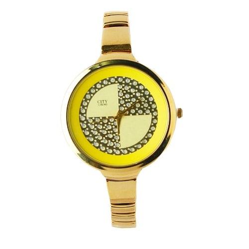 /L/a/Ladies-Round-Bracelet-Watch---Gold-6993409.jpg