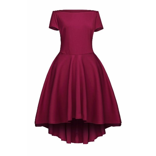 1472ddeefa Ladies Sexy All The Rage Skater Dress - Burgundy