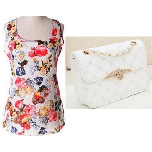 /L/a/Ladies-Sleeveless-Chiffon-Floral-Top-Quilted-Clutch-Handbag---White-6738309.jpg