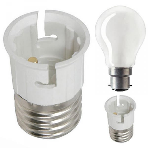 Lamp Holder Converter - Screw To Pin Light Bulb Adapter