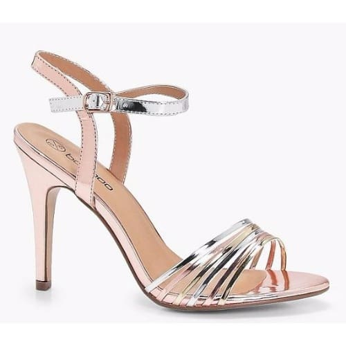 classic chic amazing selection great discount Lea Wide Fit Mixed Mettalic Mid Heels