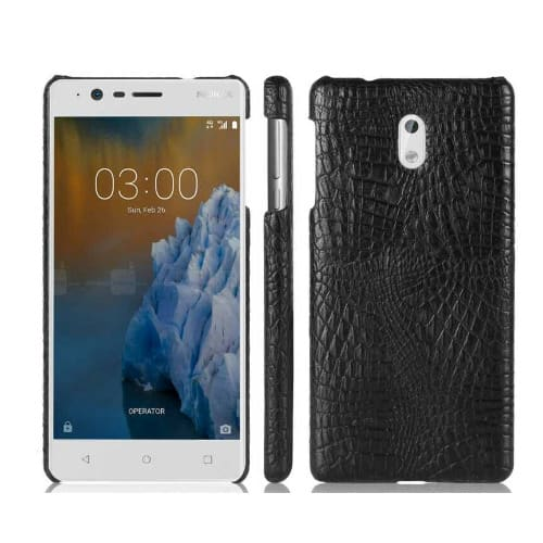 sale retailer 64114 b76ed Leather Back Cover for Nokia 6-Black