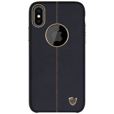 hot sale online f5ef4 26a06 Leather Case For iPhone X - Black