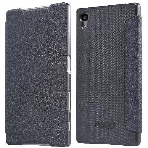 designer fashion 902cc 88619 Leather Flip Case for Sony Xperia Z5 - Black