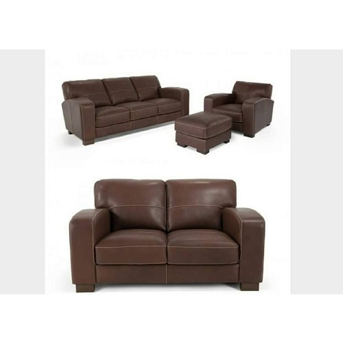 Leather Sofa 7 Seater Brown Konga Online Shopping