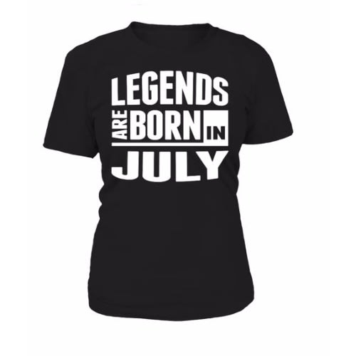 Print T Shirts L E Legends Are Born In July Birthday