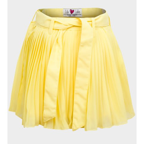 e4f2705413 Lily Lola Girls Chiffon Pleated Skirt - Yellow | Konga Online Shopping