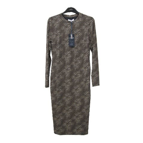best loved 6eb00 8968f Long Sleeves Animal Print Jersey Dress