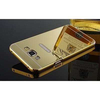 first rate 24c02 33b93 Luxury Metal Bumper + Acrylic Mirror Back Cover Case for Samsung Galaxy J2  -Gold