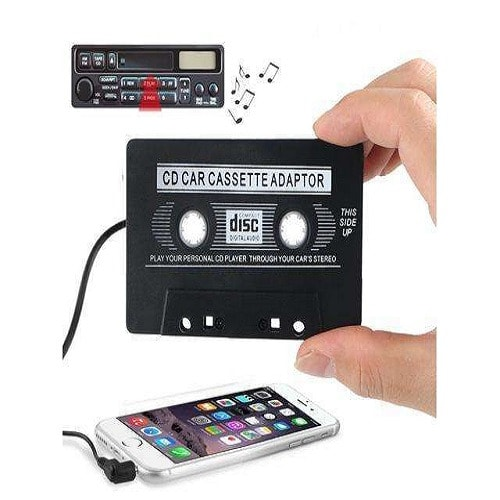 Car Cassette Tape AUX Adapter Converter MP3 iPod Tablet Stereo Music