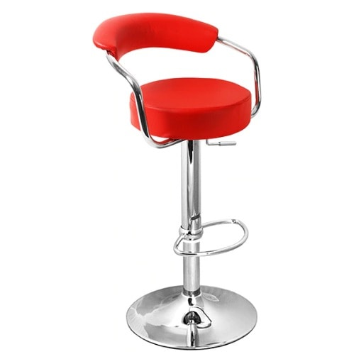 Incredible Leather Bar Stool Red Alphanode Cool Chair Designs And Ideas Alphanodeonline