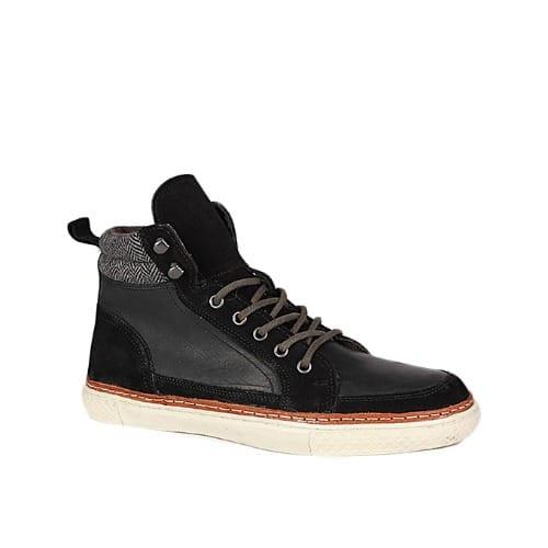 Crevo Men's Leather Memory-foam Shoe