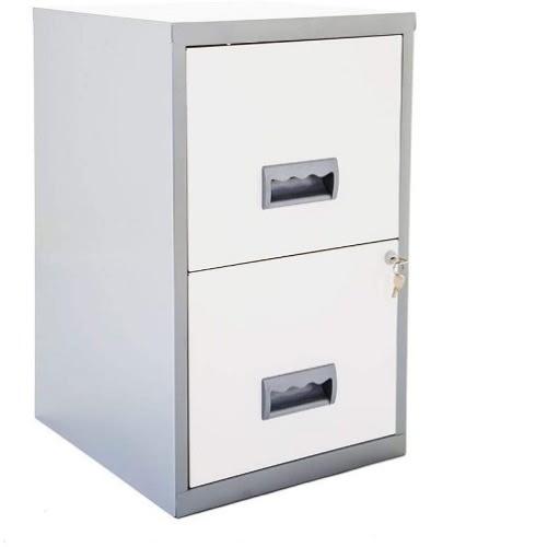 Metal 2 Drawer Maxi Filing Cabinet A4, File Cabinet 2 Drawer Metal