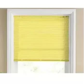 "Venetian Blind - 2.4 X 1.5-95"" X 5ft - Yellow"