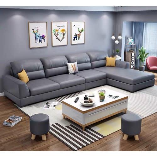 Mak Living Room Furniture Books L Shaped Leather Settee Grey Konga Online Shopping