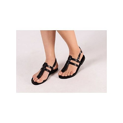 780dfdc08 Bestizzy Ladies Flat Sandals-black