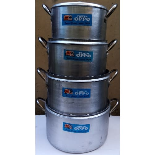 Tower 4 Set Of Cooking Pots Cookware
