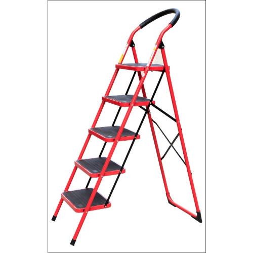 Swell Trader Ladder Household Heavy Duty Iron Ladder Red Folding Five Step Ladder 5 Step Machost Co Dining Chair Design Ideas Machostcouk