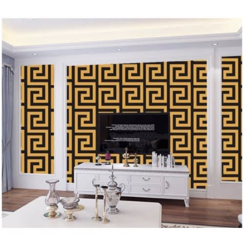 Versace New Greek Key Design In Gold Black Konga Online Shopping