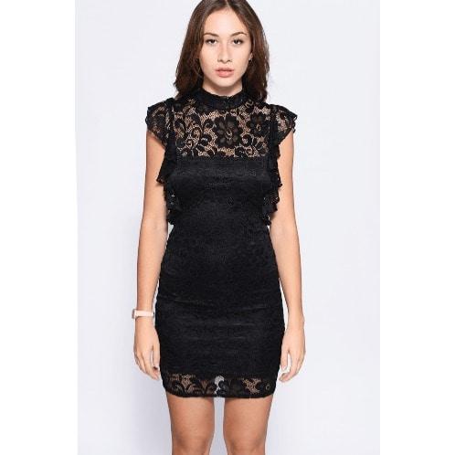 f97e3af10ef81 Frill Lace Overlay Mini Dress   Konga Online Shopping