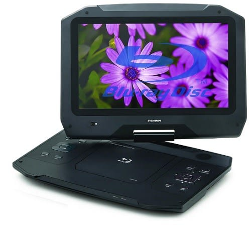 """Portable Blu-ray Media Player with 14"""" Swivel Screen"""