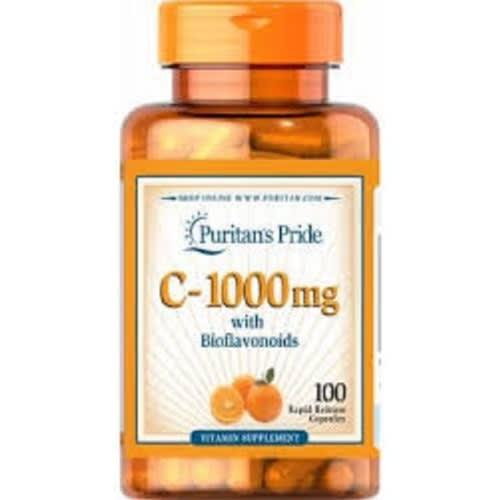 Vitamin C 1000mg With Bioflavonoids Wild Rose Hips 100 Caplets