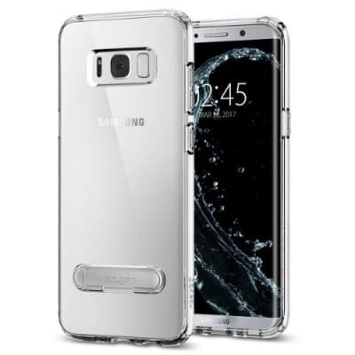 sale retailer 9a801 d51af Galaxy S8 Plus Back Cover - Transparent With View Stand