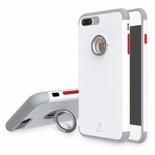 official photos ecf25 189de Magnetic Ring Series Protect Case for iPhone 7 - White