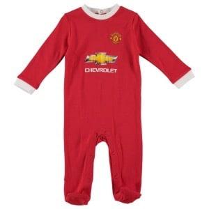 quality design c8f11 4105c Manchester United FC Baby Sleepsuit