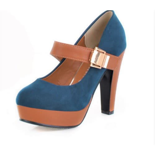 outstanding features best sale various design Mary Jane Ladies High Heeled Shoes - Navy Blue