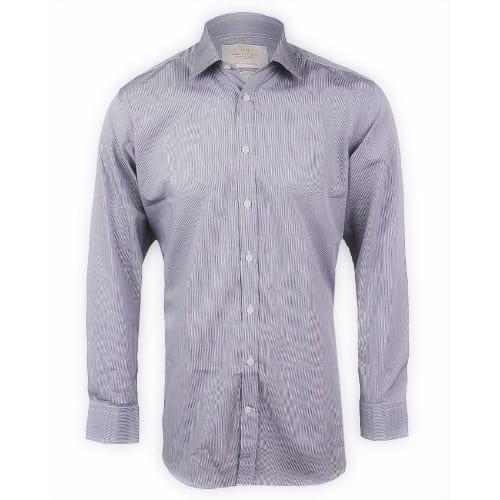 52b4b9f53b87 Hawes & Curtis Men's Black & White Grid Check Slim Fit Shirt ...