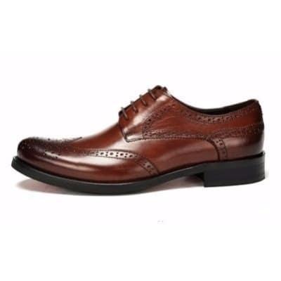 Men's Brogue Shoe - Brown   Konga