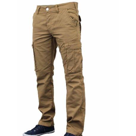Men s Chinos Cargo Combat Trouser-Beige  d64c5ff26c1