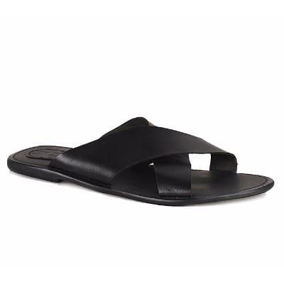 2069543ce91 Men's Cross Pattern Slippers - Black