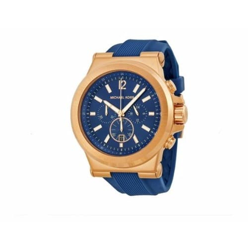 aaf6c950fc67 Michael Kors Men s Dylan Silicone Strap Watch - Navy Blue