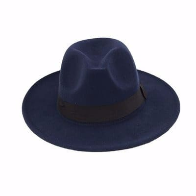 Men s Fedora Hat - Navy Blue 3b0c8cee06e
