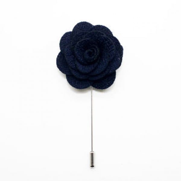 Black Boutonniere Pin