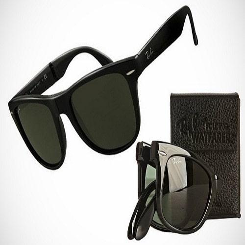 efae67f6f9 Ray Ban Men s Folding Wayfarer Square Sunglasses