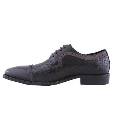 Men's Formal Detailed Lace Up Shoe - Black - MSH-4382