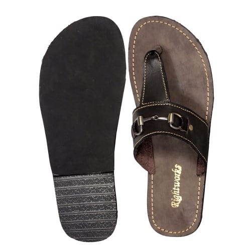 83a0a172cf15 Men s Giselle Leather Palm Slippers - Dark Brown