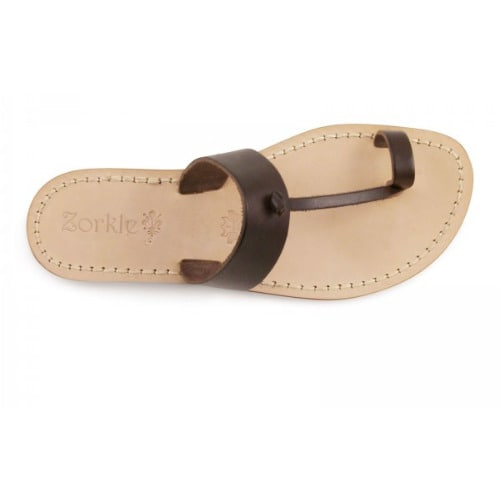 db8361d5164630 Men s Handmade Leather Thong Slippers - Brown
