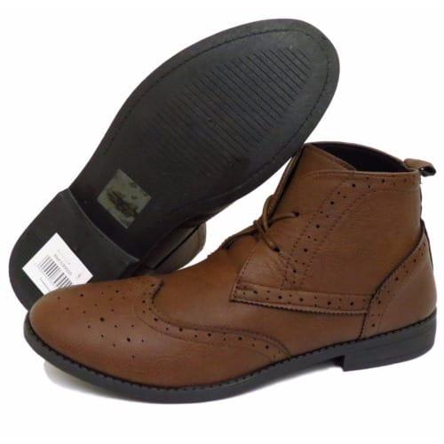 22a9f691e52 Men's Lace-Up Smart Brogue Ankle Boots - Brown