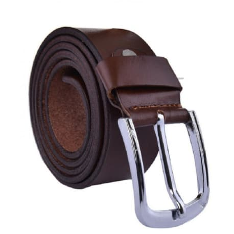 Men's Leather Belt - Brown - One Size