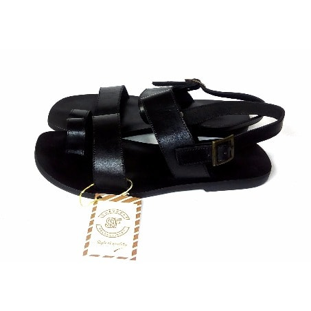b8f85fa2fe248 Men's Leather Sandals - Black