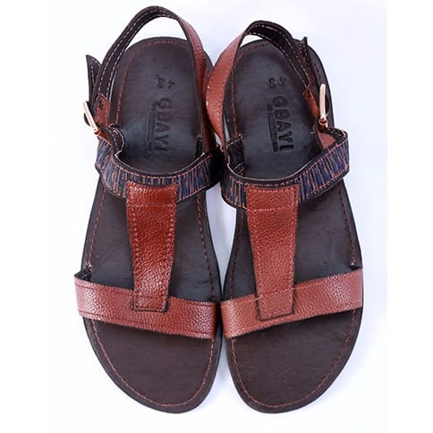196472dc05e Gbayi Signature Men s Leather Sandals - Brown