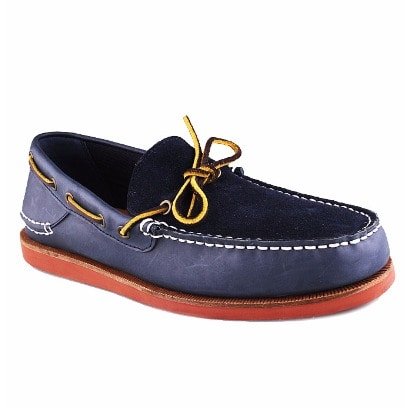 Leather Suede Moccasin - Navy Blue