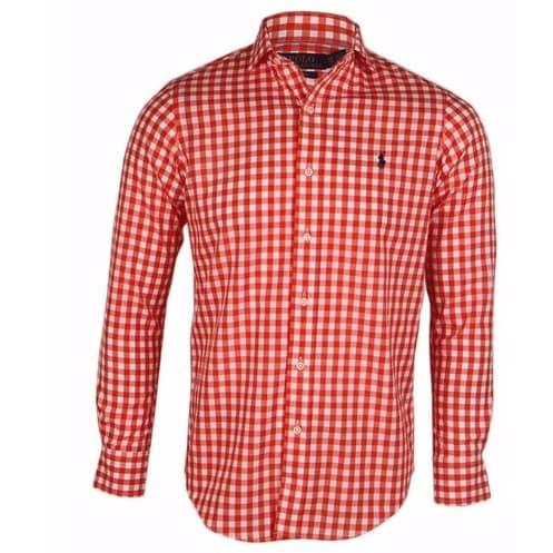 c6173624a Polo Ralph Lauren Men s Long Sleeve Check Shirt - Red