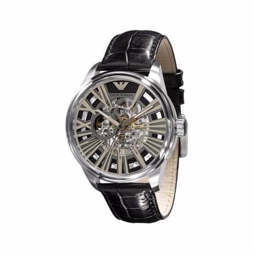 510da62aa332c Emporio Armani. Men's Meccanico Black Skeleton Dial Luxury Wrist Watch