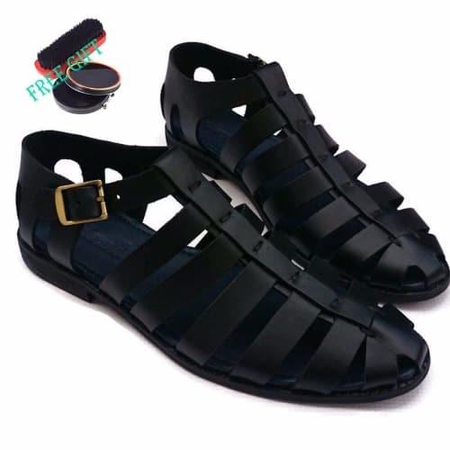 475c76b0d910 Men s Multi-Strap Leather Sandals - Black