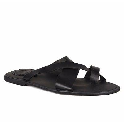 Men's Peep Toe Sandals - Black | Konga